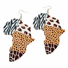 Load image into Gallery viewer, Zebra, Cat, Giraffe Blend Sahara Earrings (1 Pair or Lot of 3 Available for Resale)