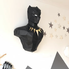 Load image into Gallery viewer, Black Panther 3D Paper Wall Sculpture