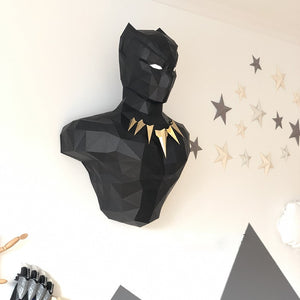 Black Panther 3D Paper Wall Sculpture