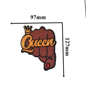 Black Queen Iron-on Custom Patches (5 mixed patches in each order)