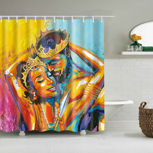 Enchanted Melanated Bliss Shower Curtain