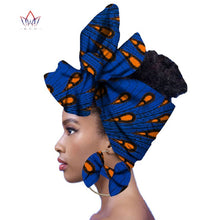 Load image into Gallery viewer, Ankara Queen Fashion Headwrap and Matching Earrings