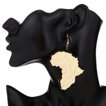 Load image into Gallery viewer, Black Outline Masterpiece Africa Earrings