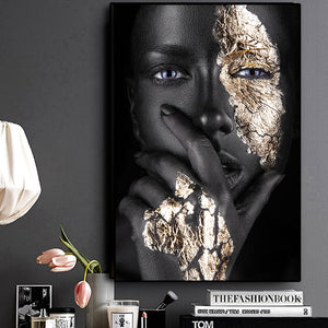 Black Gold Beauty Museum Exposé Unframed Canvas Poster