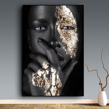 Load image into Gallery viewer, Black Gold Beauty Museum Exposé Unframed Canvas Poster