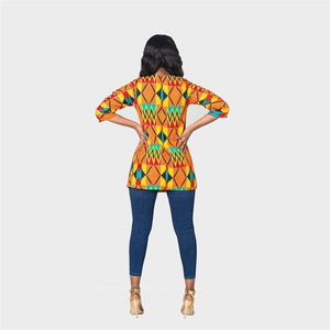 Dashiki Extended Sleeve Casual Top
