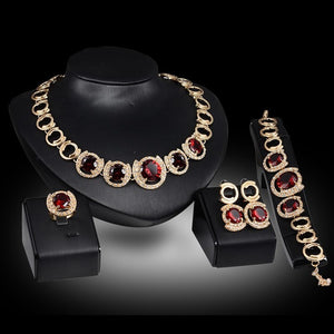 Ethiopian Gold plated Regal Jewelry set