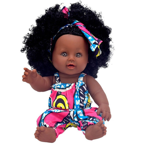 Curly Melanated Baby Doll