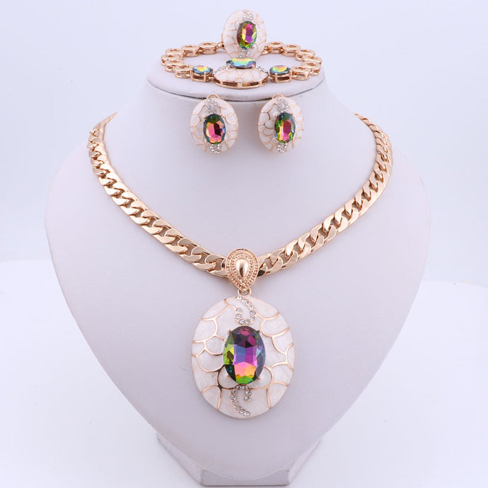 Faberge Jewelry Set (Gold or Silver Plated)
