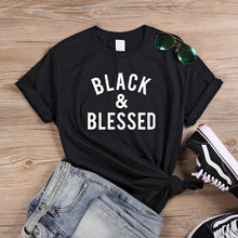 Load image into Gallery viewer, Blessed to Be Black Tshirt