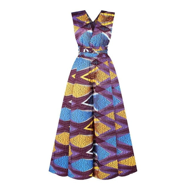 Flared Comfort Ankara Fashion Wide-Leg Freestyle Suit