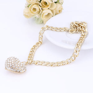 Gold Plated Heart Choker