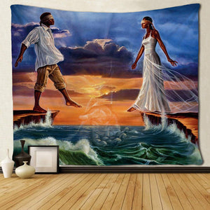 Leap of Faith God's Plan Wall Tapestry