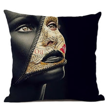 Load image into Gallery viewer, Mask-Off White Liberal True Identity Pillow Case