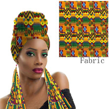 Load image into Gallery viewer, Eartha Wrap and Matching Earring Fashion Set
