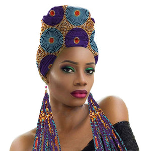Eartha Wrap and Matching Earring Fashion Set