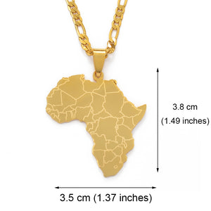 18K Gold Plated Africa Detail Figaro Chain