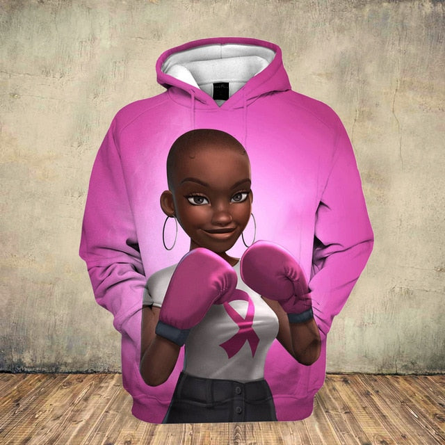 Fighters and Survivors Breast Cancer Awareness Hoodie