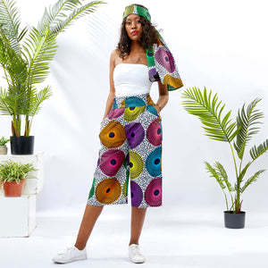 Ankara Wide-Leg Fashion Culottes