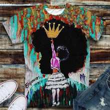 Load image into Gallery viewer, Empower the True Queens Only Tshirt (Order 2 sizes Larger)