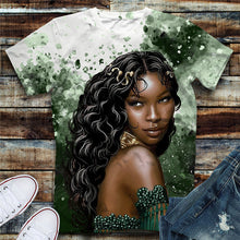 Load image into Gallery viewer, Black Queen Tshirt (Order 2 sizes Larger)