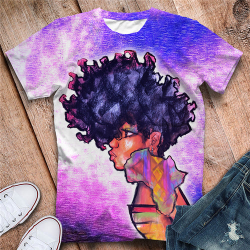 Afro Africa Black Queen Tshirt (Order 2 sizes Larger)