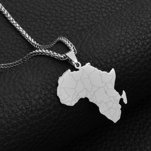 2021 New Africa Detail Stainless Steel Chain Necklace