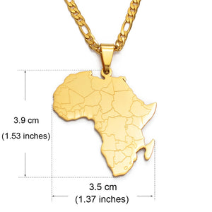 2021 18K Gold or .925 Silver Plated Africa Detail Tennis Chain Necklace