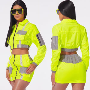 Highlight SwagFit Tennis Skirt Reflective Active Suit