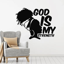 Load image into Gallery viewer, God Is My Strength Wall Vinyl