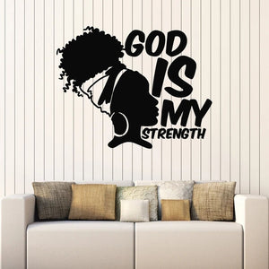 God Is My Strength Wall Vinyl