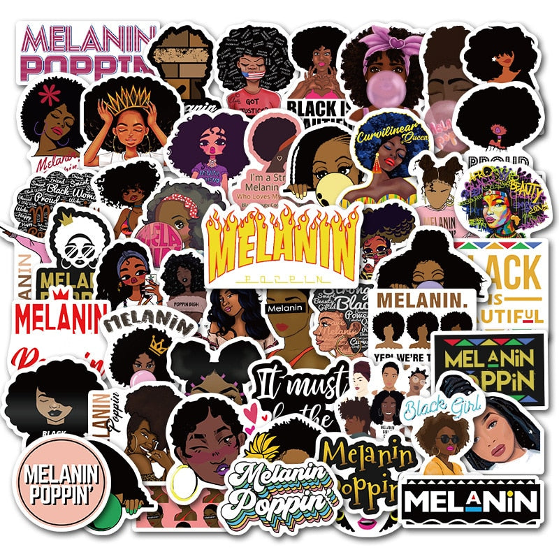 Melanin Awareness Sticker Collection