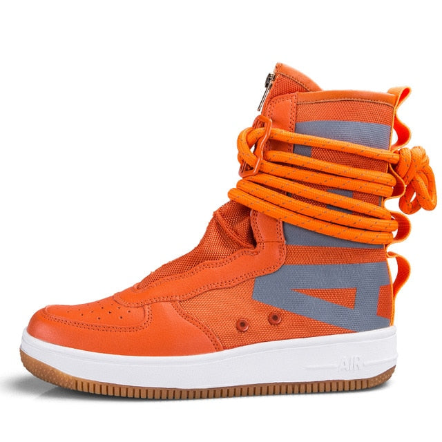 Air Strapped Zip-Up Super High-Top Sneaker Boots
