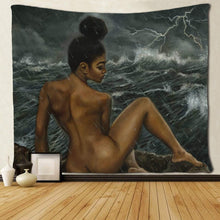 "Load image into Gallery viewer, She Whispered ""I Am The Storm"" Tapestry"
