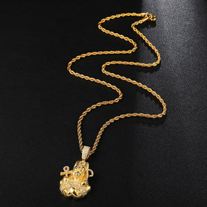Anubis, Temple Guardian 18K Gold Plated Chain
