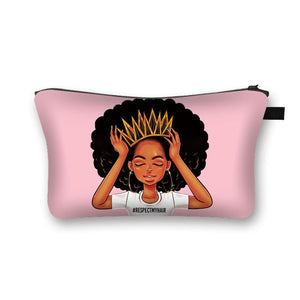 Black Princess #RespectMyHair 2020 Back-to-School Pencil Case