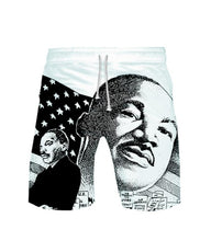 Load image into Gallery viewer, MLK Dream Shorts Collection (available in Young Men's and Child Sizes)
