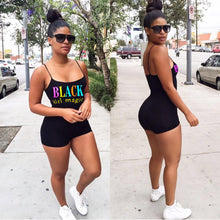 Load image into Gallery viewer, #Blackgirlmagic Summer Sports Spaghetti Strap Fit Suit