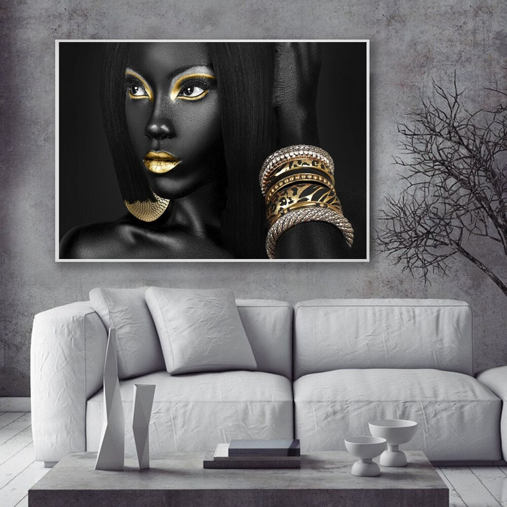 Black Bold Museum Gallery Canvas Poster
