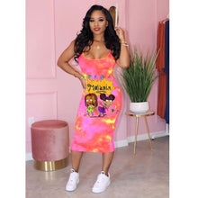 Load image into Gallery viewer, Melanin Rugrats Spaghetti-Strap Dress