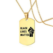 Load image into Gallery viewer, #BlackLivesMatter 18K Gold plated Dog Chain