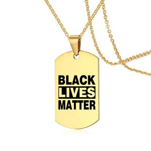 #BlackLivesMatter 18K Gold plated Dog Chain