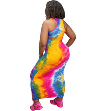 Load image into Gallery viewer, Black Lives Matter Tie Dye Dress