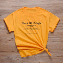 Load image into Gallery viewer, #BlackGirlMagic Defined Tshirt