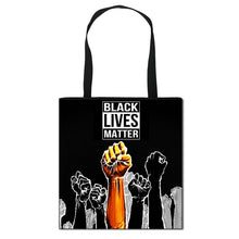 Load image into Gallery viewer, Black Statement Tote Bag