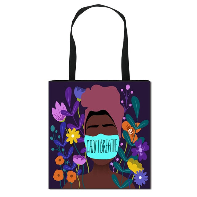 Black Statement Tote Bag