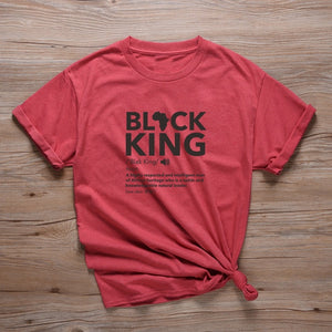 Black King Defined Africa Logo Tshirt