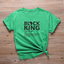 Load image into Gallery viewer, Black King Defined Africa Logo Tshirt