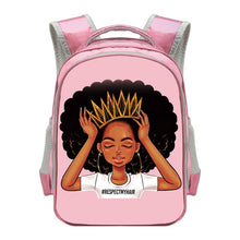 Load image into Gallery viewer, Waterproof Black Princess 2020 Back-to-School Backpack