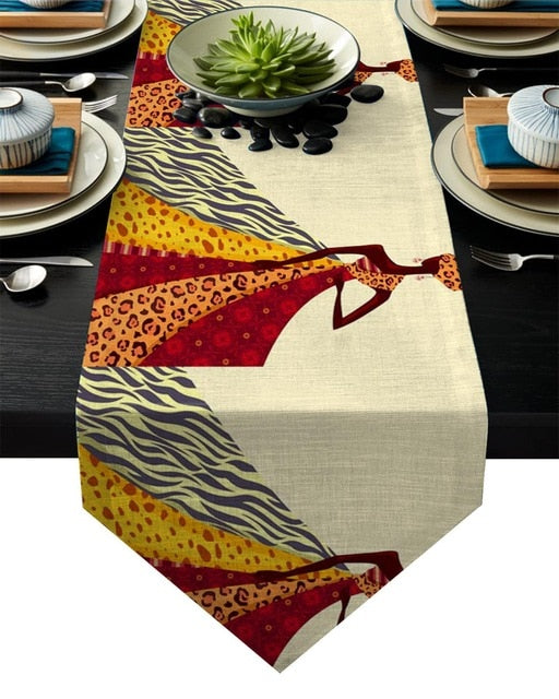 Contemporary Africa Fashion Luxury Table Banner
